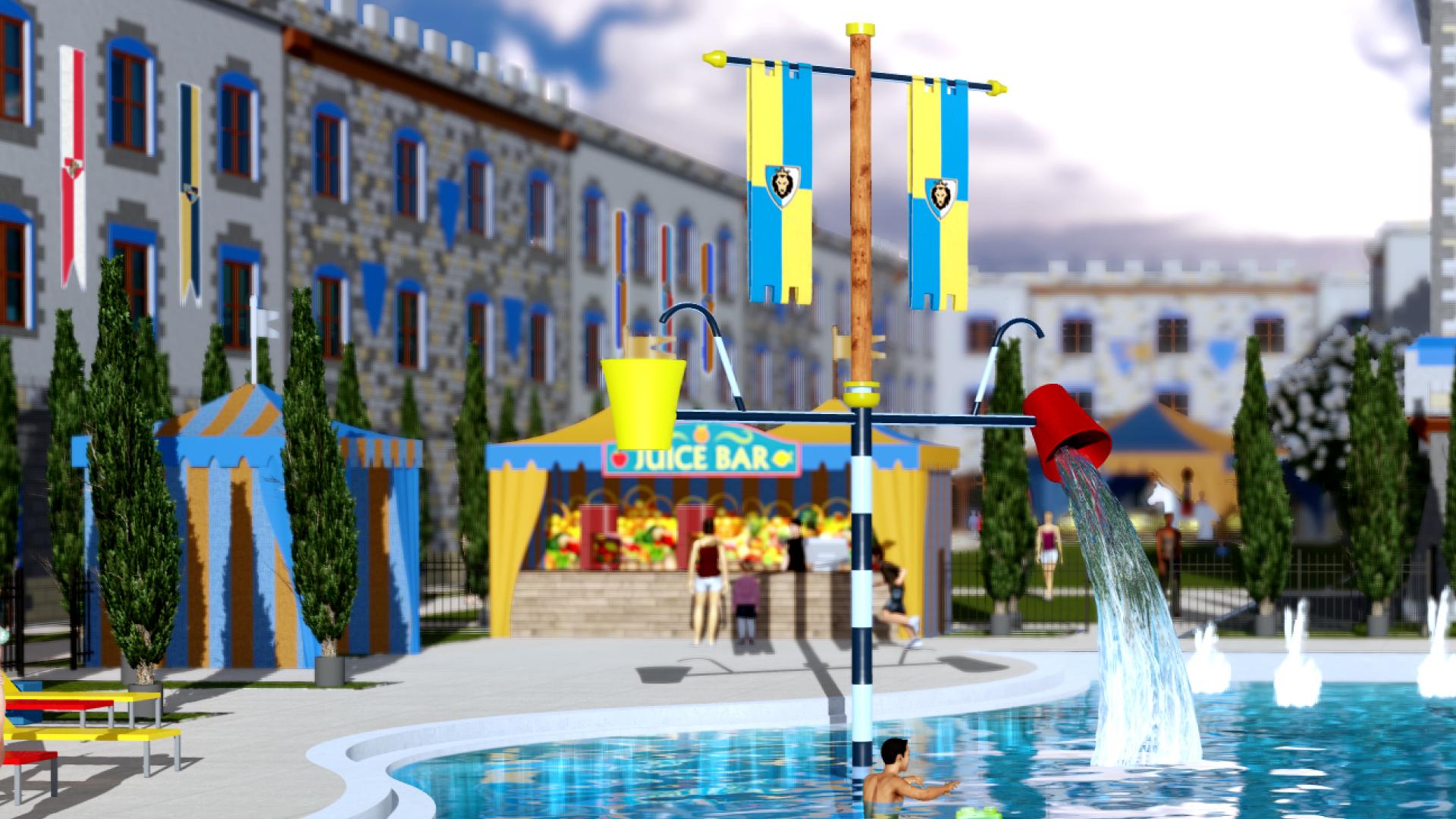 Legoland Castle Hotel Construction Media Tour Bionic Buzz