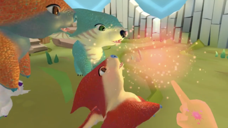 vr pet dragons at beast pets booth at vrla expo  bionic buzz